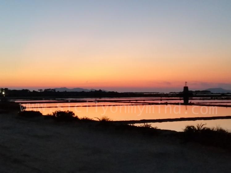 marsala - tramonto - stagnone
