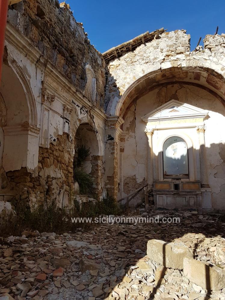 ruined church in poggioreale