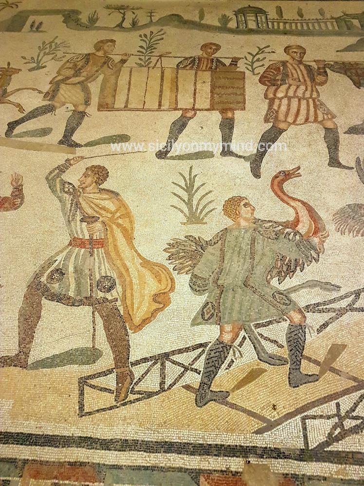 the great hunt - piazza armerina - mosaic